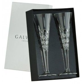 Galway Crystal Longford Romance Flutes