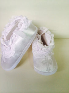 Girl's Cross Shoes for Baptism & Christening