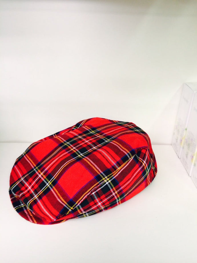 Infant's Red Plaid Irish Cap
