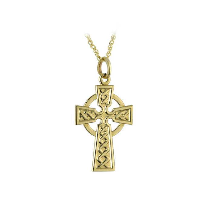 10K Gold Celtic Cross Pendant Solvar