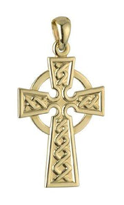 Solvar 10K Gold Double Side Celtic Cross Pendant