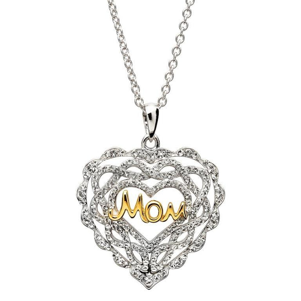 Swarovski Crystal Heart Mom Shanore