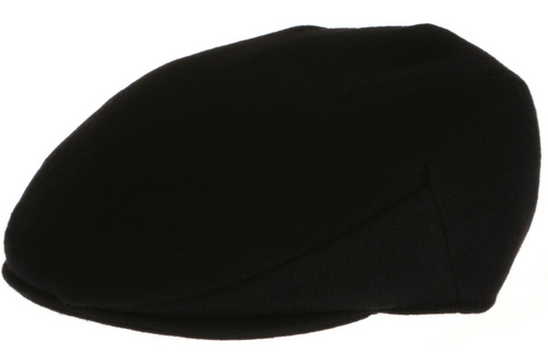 Vintage Flat Cap Solid Black by Hanna Hats