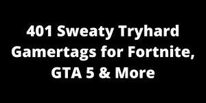 401 Sweaty Tryhard Names For Fortnite, GTA 5 & More