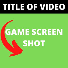 Youtube video game template