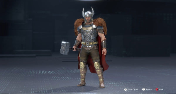 king thor outfit costume legendary skin marvel avengers game