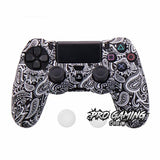 Black Leaves PS4 Anti Slip Skin + 2 Thumb Grips