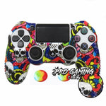 Colorful Skulls PS4 Studded Ergonomic Anti-Slip Grip Skin