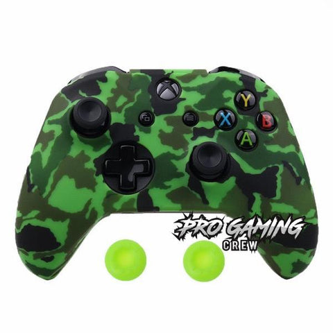 Electric Green Xbox One Controller Cover + 2 Joystick Thumb Grips