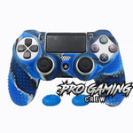 Fierce Blue Black PS4 Studded Ergonomic Anti-Slip Grip Skin