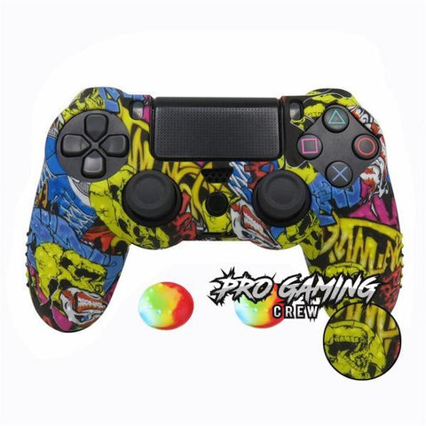 Urban Graffiti PS4 Studded Ergonomic Anti-Slip Grip Skin