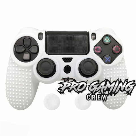 Matte White PS4 Studded Ergonomic Anti-Slip Grip Skin