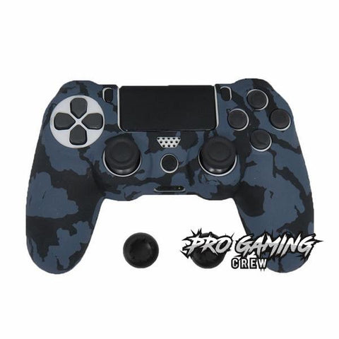 Dark Grey Camo PS4 Anti Slip Skin + 2 Thumb Grips