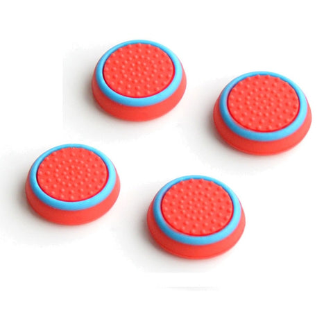 Red & Blue Thumb Stick Grips for Playstation 4 and Xbox One x4