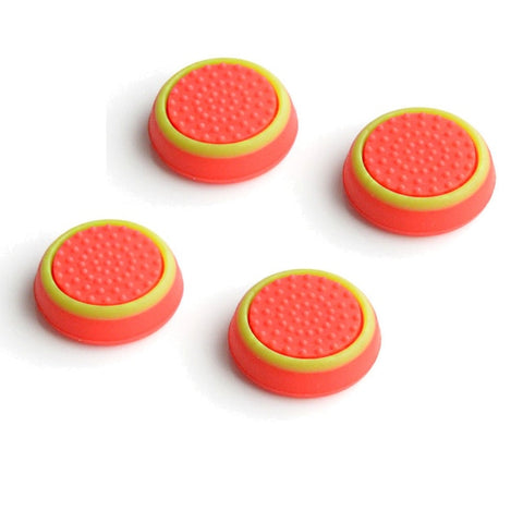Orange & Yellow Thumb Stick Grips for Playstation 4 and Xbox One x4
