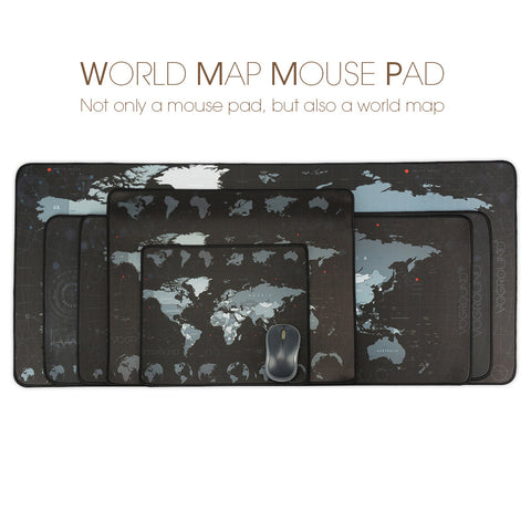 World Map Large Gaming Mouse Pad
