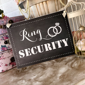 'Ring Security' Chalkboard Style Sign