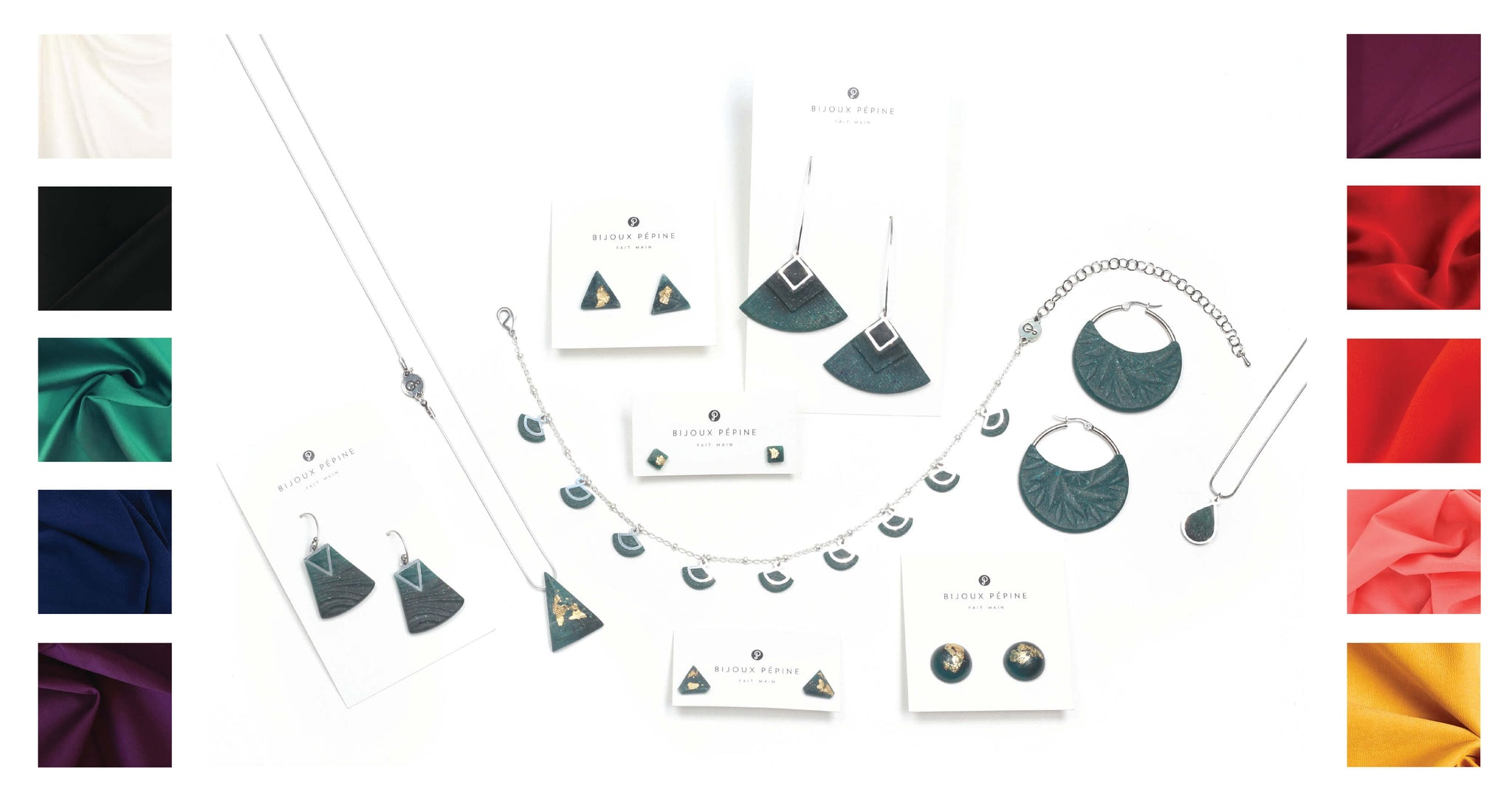 forest green jewelry colour guide