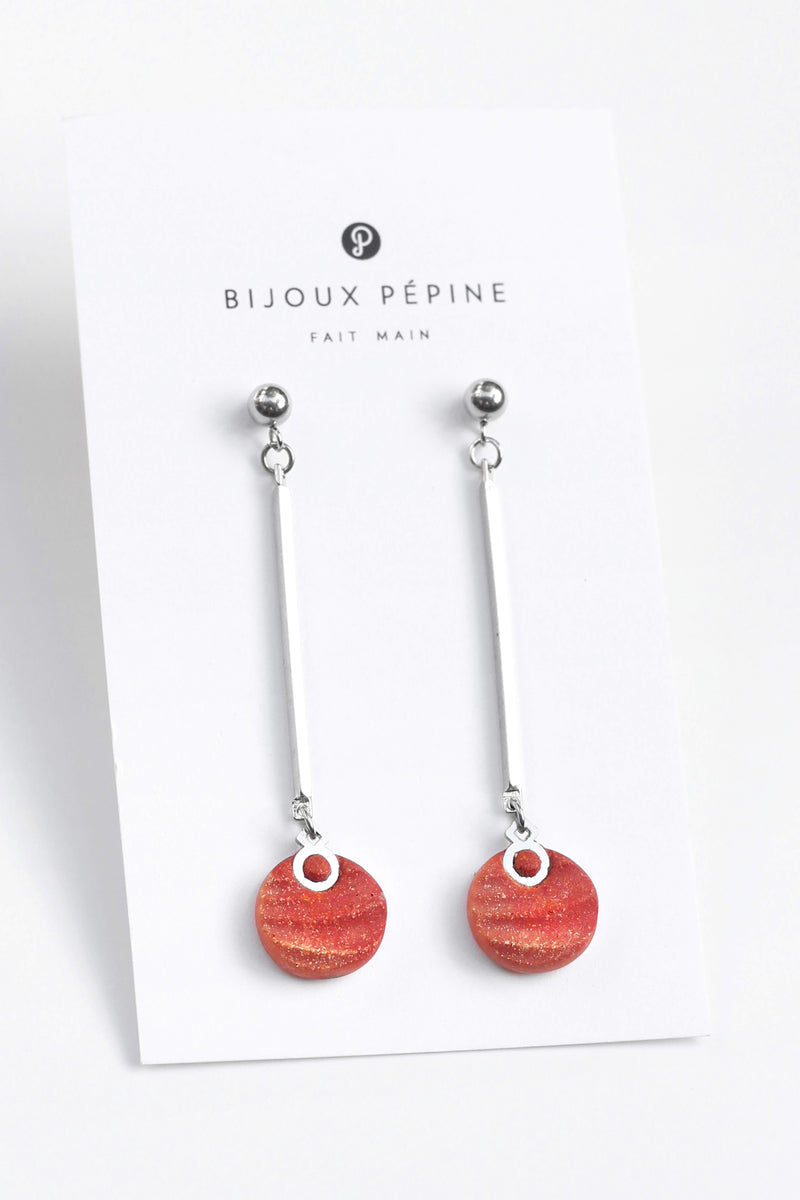 Dune-studs-earrings-handmade-montreal-canada-resin-jewelry-hypoallergenic-coral