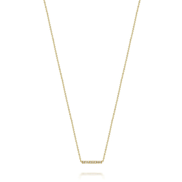 14kt Small Diamond Bar Necklace