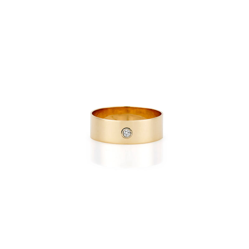 14K DIAMOND BEZEL RING BAND