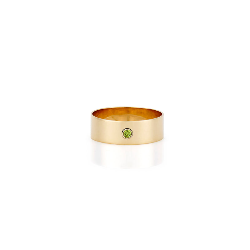 14K BIRTHSTONE RING BAND