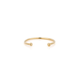 14k Gold Double Bead Band