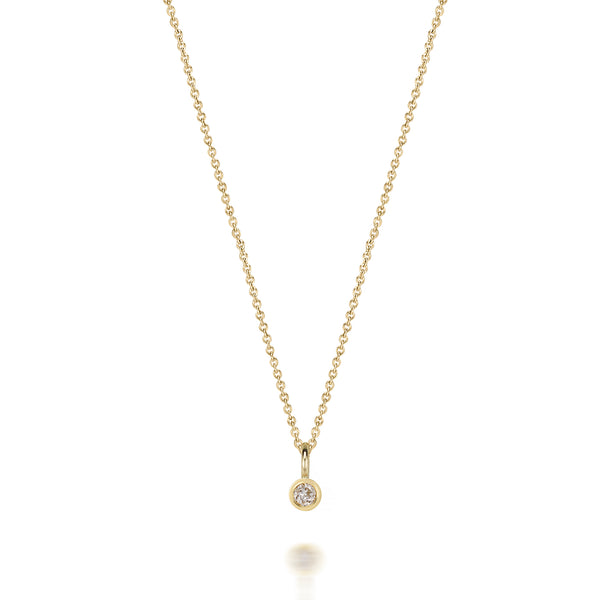 14kt White Topaz Gemstone Necklace