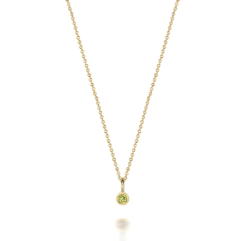 14kt Peridot Gemstone Necklace