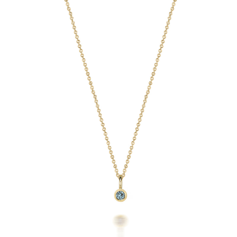 14kt Blue Topaz Gemstone Necklace