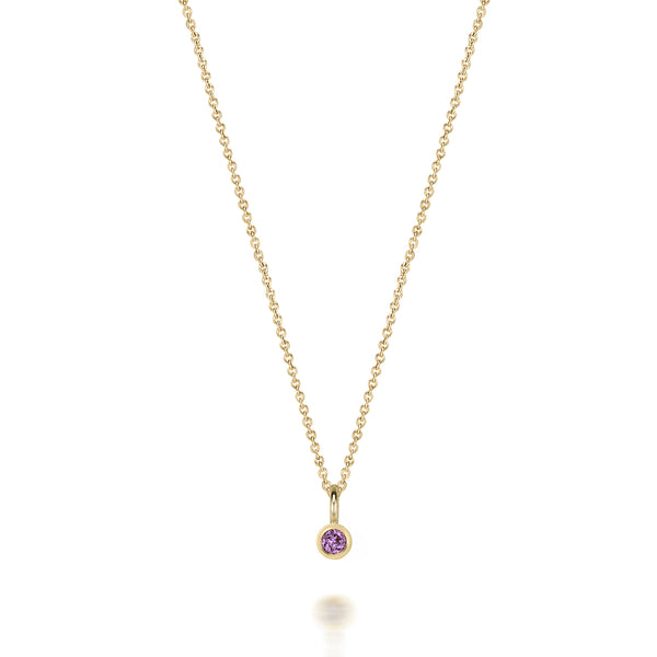 14kt Amethyst Gemstone Necklace