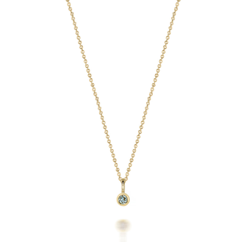 14kt Aquamarine Gemstone Necklace