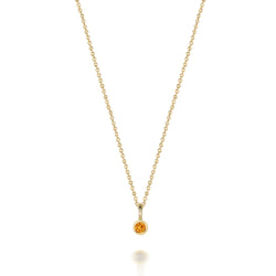 14kt Citrine Gemstone Necklace