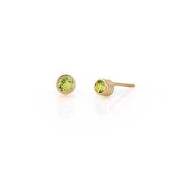 14kt Peridot Gemstone Earrings