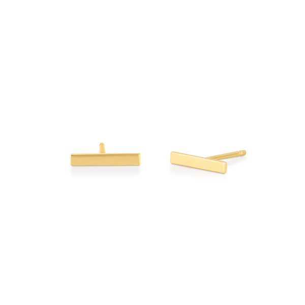 14kt Mini Bar Earrings