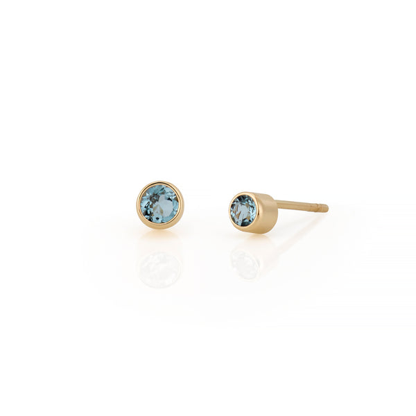 14kt Blue Topaz Gemstone Earrings
