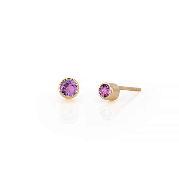 14kt Amethyst Gemstone Earrings