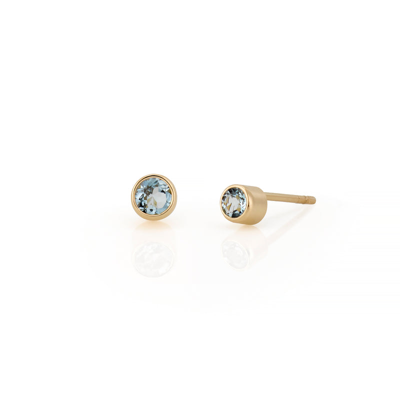14kt Birthstone Earrings