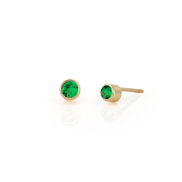 14kt Emerald Earrings