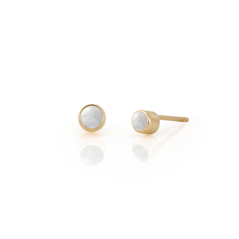 14kt Pearl Birthstone Earrings
