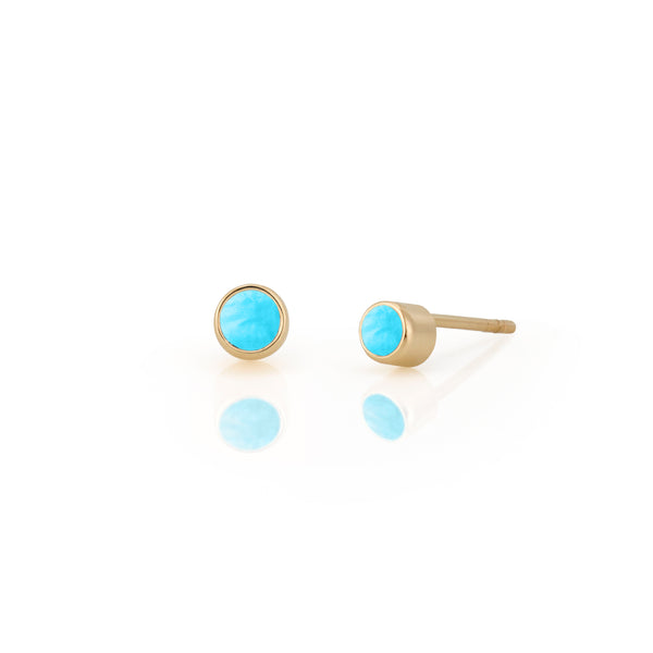 14kt Turqouise Birthstone Earrings