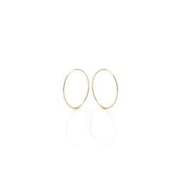 14k Gold Hoops - Medium 19mm