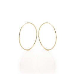 14k Gold Hoops - Large 35mm
