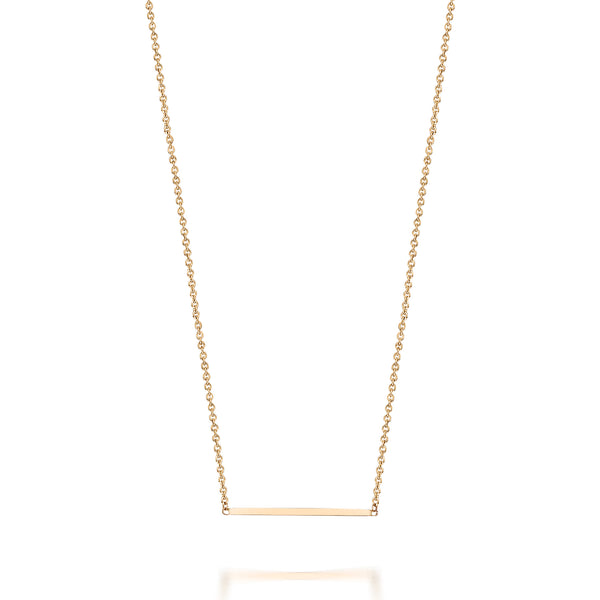 14kt Line Bar Necklace