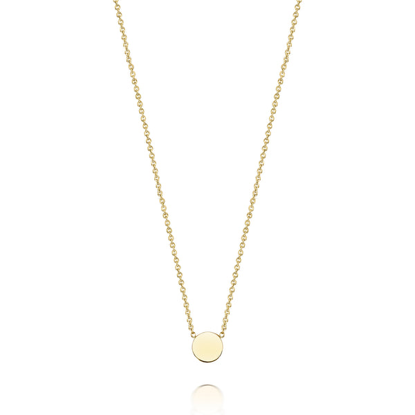 14K Gold Mini Disc Necklace