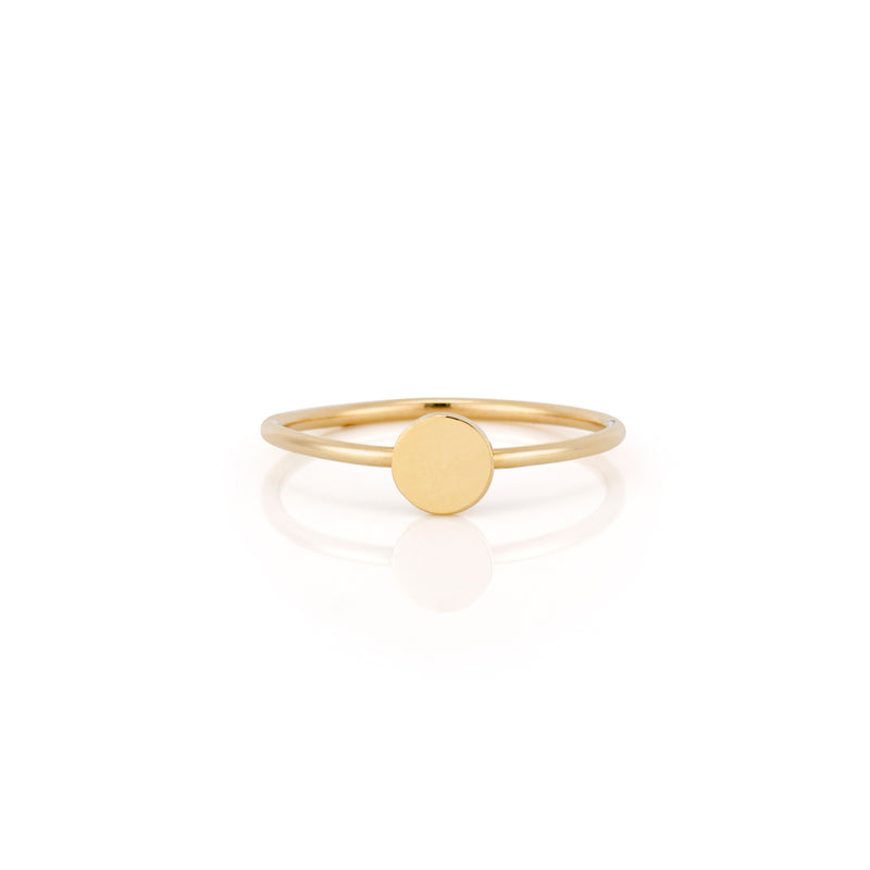14k Gold Mini Disc Ring