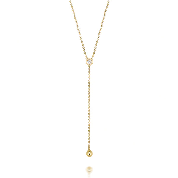 14k Diamond Lariat
