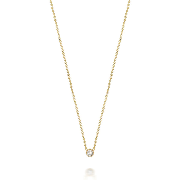 14kt Diamond Solitaire Necklace