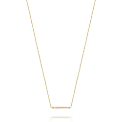 14kt Medium Diamond Bar Necklace