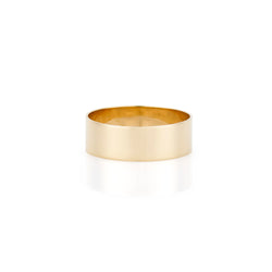 14k Gold Tall Stacker Ring